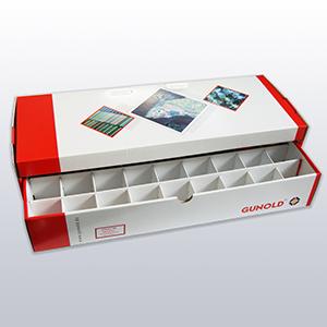 Schubladen Box für 27 Farben, leer